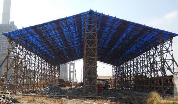 Тарпаулиновый тент для стройки в Екатеринбурге фото 4