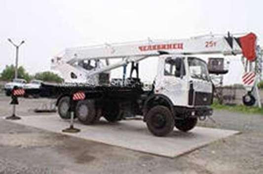 Автокран Челябинец КС55732-21-33 г/п 25т вылет стрелы 21,7м шасси МАЗ-6312В3