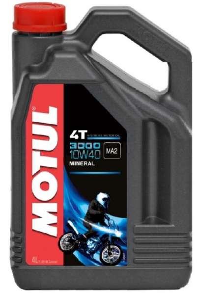 Масло для мотоциклов MOTUL 3000 4T 10W40 4 ЛИТРА минеральное