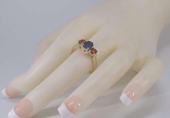 Кольцо золотое с цветными Сапфирами в Москве фото 4