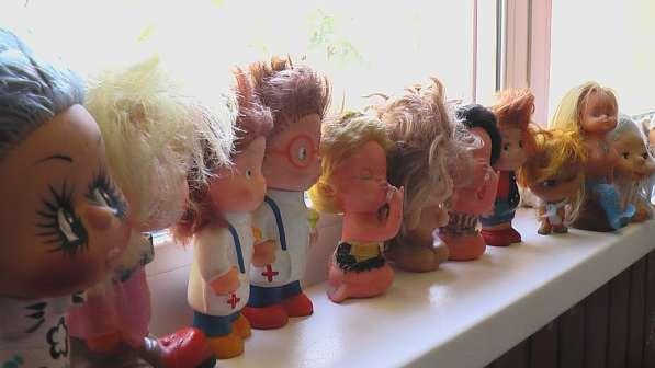Игрушки резиновые с волосами. СССР