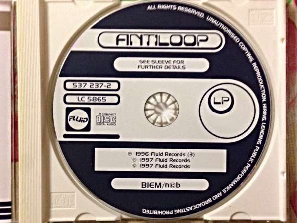 ANTILOOP - 1997 Germany 537 237-2 CD в Москве