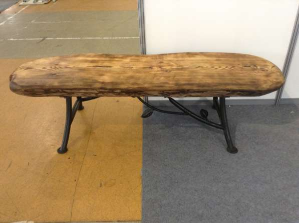 Лавка - скамейка кованая с деревянным сиденьем