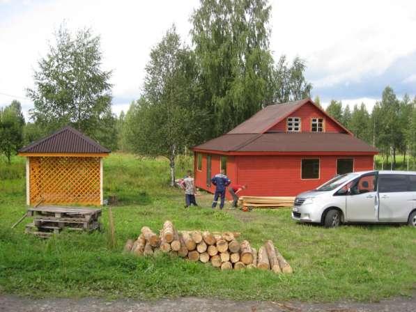 Новый дом на 140 сотках на озере у леса