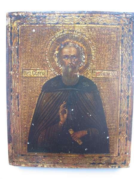 Продам икону Икона. Сергий Радонежский. На золоте