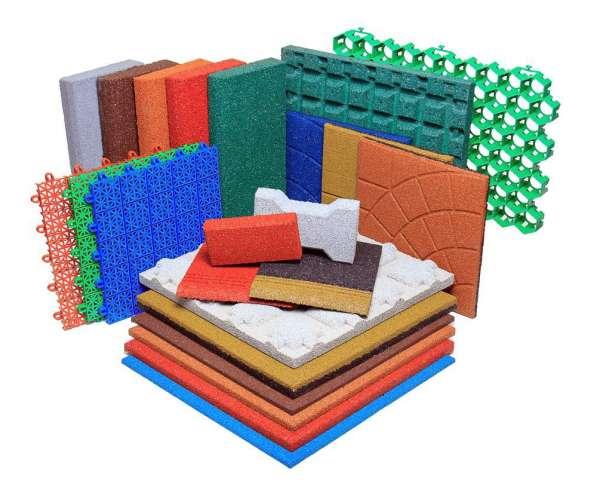 Модульная плитка из резиновой крошки по доступной цене в Екатеринбурге фото 5