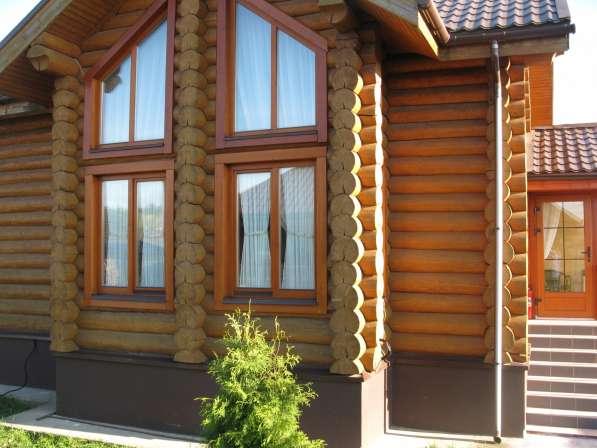 Толстопальцево 8 соток 2 дома из бревна под ключ 140 м. кв