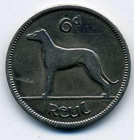 Ирландия 6 пенсов 1928 г. (Ирландское свободное государство)