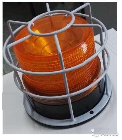 Маячок проблесковый (мигалка) оранжевый в