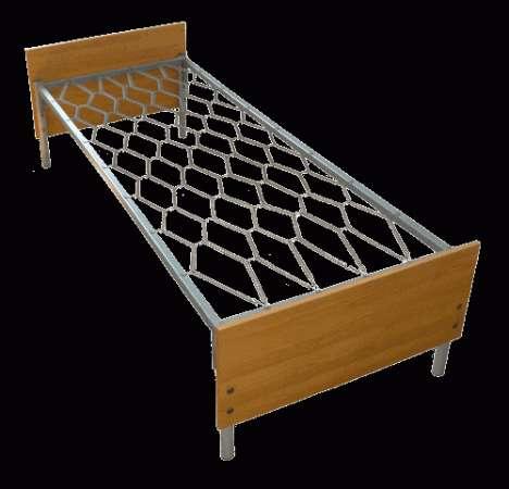 Металлические кровати с ДСП спинками для больниц, оптом от производителя.