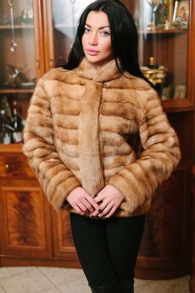 Норковая куртка автомобилка, golden pastel, 42-44