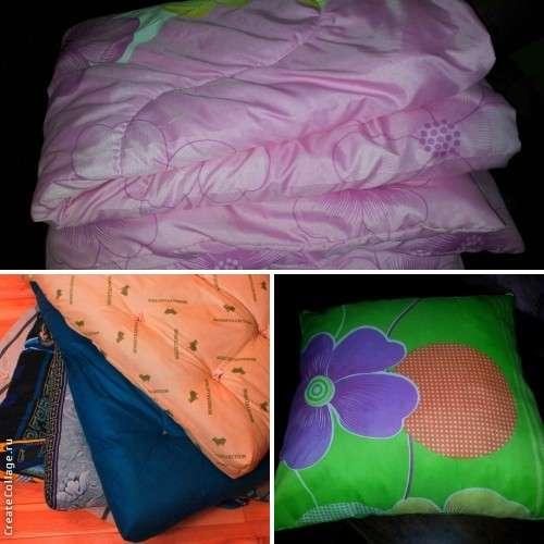 Матрац, подушка и одеяло и постельное белье.Бесплатная доста