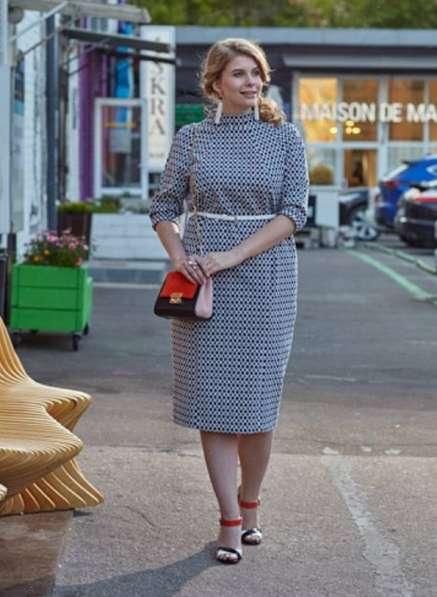 Платье из жаккарда от бренда W&B