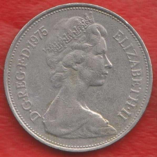 Великобритания Англия 10 новых пенни 1975 г. Елизавета II в Орле