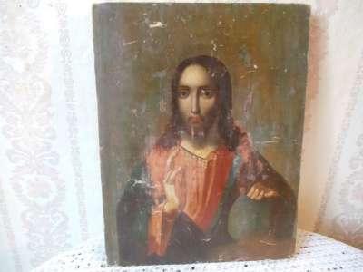 Старинная икона Исус Христос
