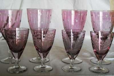 фужеры и рюмки марганцевого стекла винт