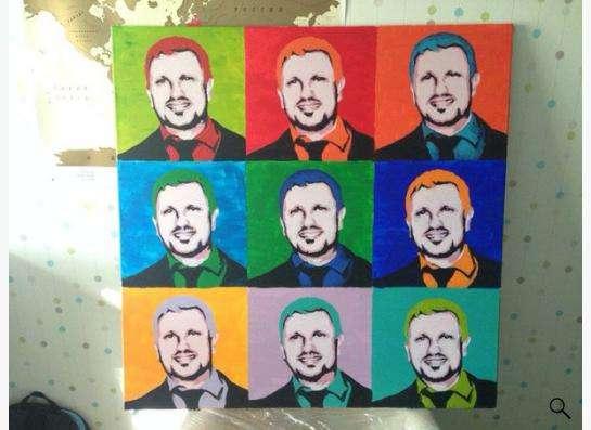 Поп-арт портреты на заказ в Москве фото 6