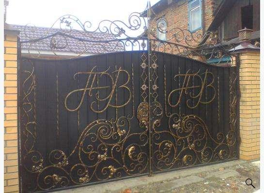 Кованные ворота, заборы- ручная ковка!!!