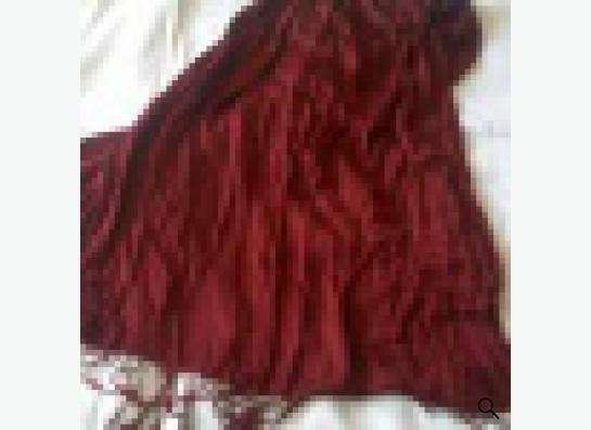 шарф бордовый