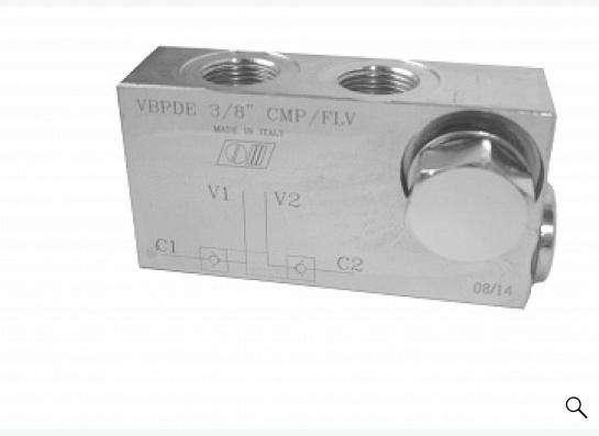 Гидрозамок двухсторонний VBPDE 3/8 CMP/FLV