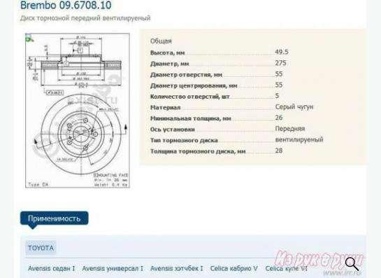 Передние тормозные диски Brembo в Кемерове фото 3