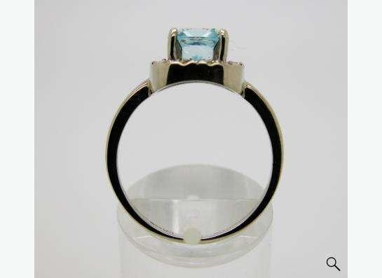 Золотое кольцо с принцессой Топаза и бриллиантами. в Москве фото 4