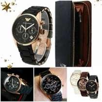 Комплект часы Emporio Armani и клатч, в Санкт-Петербурге