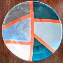 голубая тарелка ручной работы, в г.Иерусалим