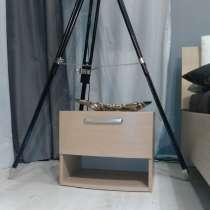 Тумба с ящиком ELODIE шпон дуба беленый, Чехия, в Москве