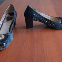 Продам синие туфли из натуральной замши пр-во Италия Ilas, в Екатеринбурге