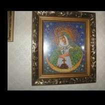 Икона вышитая бисером, в г.Тула