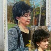 Портрет по фото, ручное исполнение, в г.Алматы