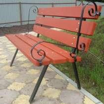 Скамейки садовые со спинкой из дерева для дачи, в Перми