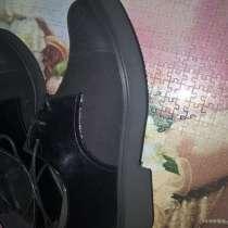 Кожаные лаковые ботинки 40 размер, в Волгограде