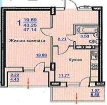 Большая однокомнатная квартира, в Краснодаре