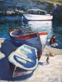 """Картина """"Три лодки"""", холст, масло, в г.Севастополь"""