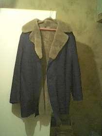 Пальток овчина, верх джинса, размер 54 не ношен, в Москве