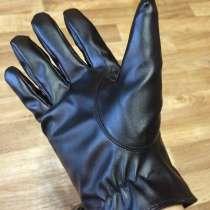 Перчатки мужские новые черные простроченные утепленные, в Комсомольске-на-Амуре