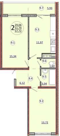 Спешите купить квартиру класса комфорт!!!!!!!!, в Краснодаре