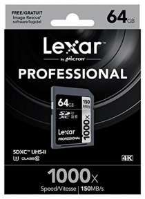 Карта памяти Lexar 64GB 1000x 150MB/s SDXC Card UHS-II U3 4K, в Таганроге