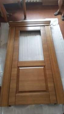Дверь, неоклассика, массив ясеня, цвет орех, в г.Гомель