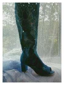 Продам сапожки, материал-джинса, размеры с 35по40, в Уфе