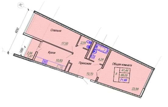 2-комнатная квартира бизнес-класса