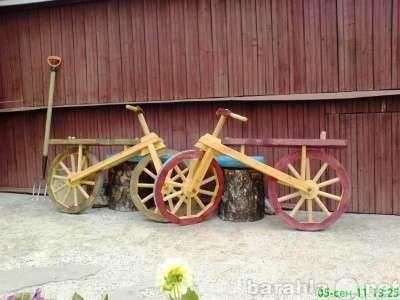 Деревянный велосипед для декора сада в Москве Фото 5