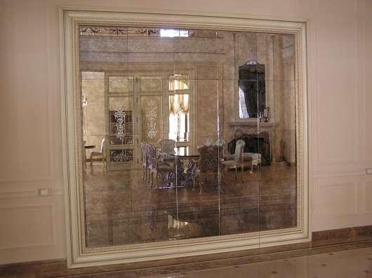 Состаренное зеркало, изготовление, монтаж, доставка зеркал