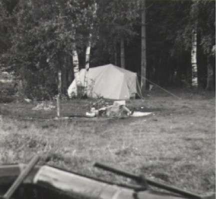 Палатка польская, трёхместная, герметичная, двухполостная