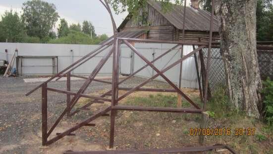 Крыльцо цельно металлическое с козырьком в г. Вологда Фото 5