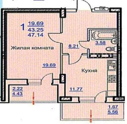 Большая однокомнатная квартира