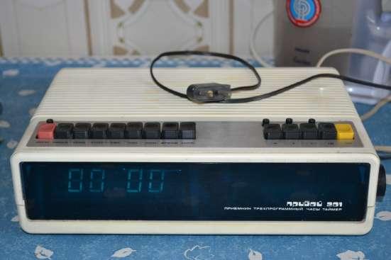 Прибой-201 трехпрограммный приемник. Часы. Радио