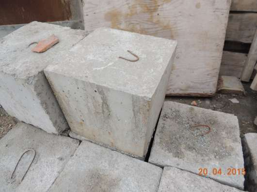 Блок фундаментный 300х300х300 с крюком в Новосибирске Фото 3